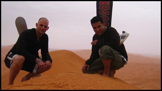Whoop-whoop! Sandboarding in the Sahara