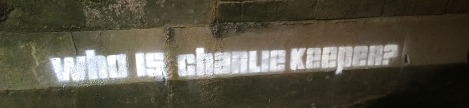 Graffiti Who is Charlie Keeper Banner Keeper of the Realms 3